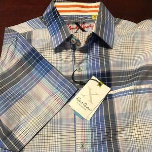 New Robert Graham Classic Fit Windsor Paisley Navy Long Sleeve Shirt XS L XL